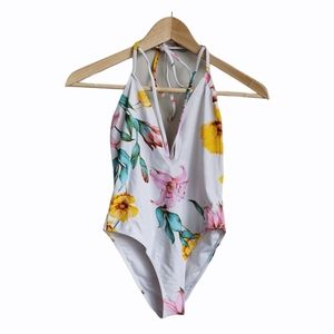 Forever 21 Floral One Piece Swimming Suit